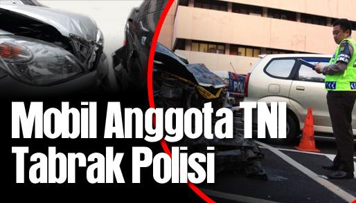 mobil anggota tni tabrak polisi_hl